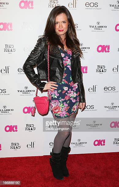 Actress Christie Burson attends the OK Magazine So Sexy LA party at SkyBar at the Mondrian Los Angeles on April 17 2013 in West Hollywood California