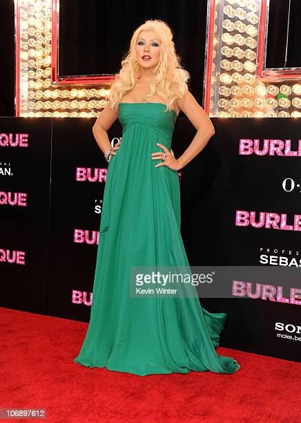 Actress Christina Aguilera arrives at the premiere of Screen Gems' Burlesque at Grauman�s Chinese Theater on November 15 2010 in Los Angeles...