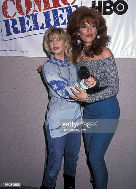 Actress Christina Applegate and actress Katey Sagal attend the HBO Variety Show Special 'Comic Relief III' to Benefit America's Homeless on March 18...