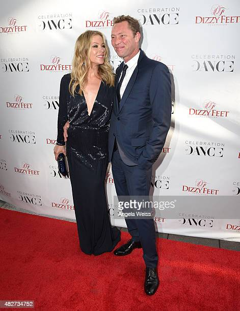 Actress Christina Applegate and bassist Martyn LeNoble attend the 5th Annual Celebration of Dance Gala presented By The Dizzy Feet Foundation at Club...