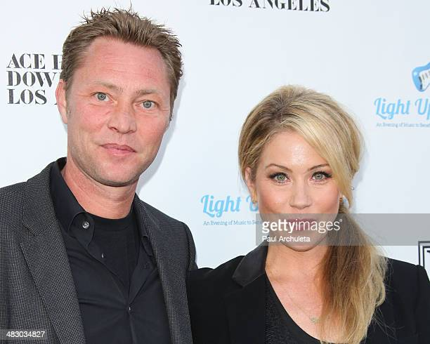 Actress Christina Applegate and her husband Martyn LeNoble attend the 2nd Light Up The Blues concert an evening of music to benefit Autism Speaks at...