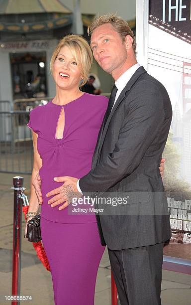 Actress Christina Applegate and musician Martyn LeNoble arrive at the Going The Distance Los Angeles Premiere at Grauman's Chinese Theater on August...