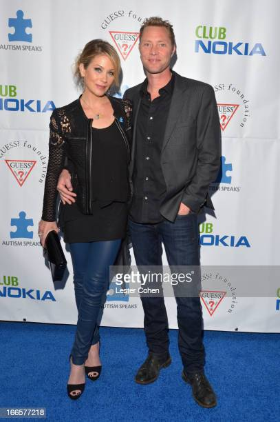 Actress Christina Applegate and musician Martyn LeNoble arrive at Light Up The Blues Concert An Evening of Music To Benefit Autism Speaks at Club...