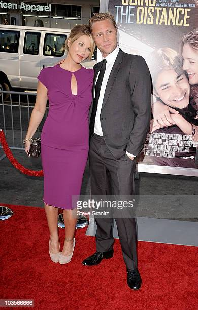 Actress Christina Applegate and musician Martyn Lenoble arrives at the Going The Distance Los Angeles premiere at Grauman�s Chinese Theatre on August...