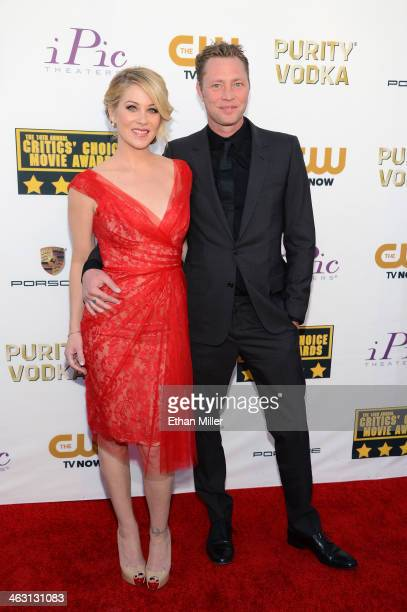 Actress Christina Applegate and musician Martyn LeNoble attend the 19th Annual Critics' Choice Movie Awards at Barker Hangar on January 16 2014 in...