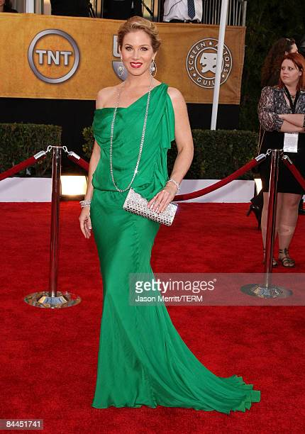Actress Christina Applegate arrives at the 15th Annual Screen Actors Guild Awards held at the Shrine Auditorium on January 25 2009 in Los Angeles...