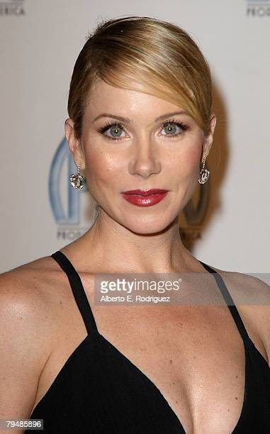 Actress Christina Applegate arrives at the 19th annual Producers Guild Awards held at the Beverly Hilton Hotel on February 2 2008 in Los Angeles...