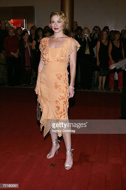 Actress Christina Applegate arrives at the Kennedy Center's Ninth Annual Mark Twain Prize on October 15 2006 in Washington DC