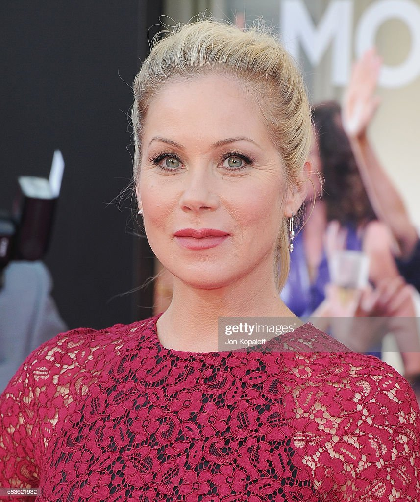 Actress Christina Applegate arrives at the Los Angeles Premiere 'Bad Moms' at Mann Village Theatre on July 26, 2016 in Westwood, California.