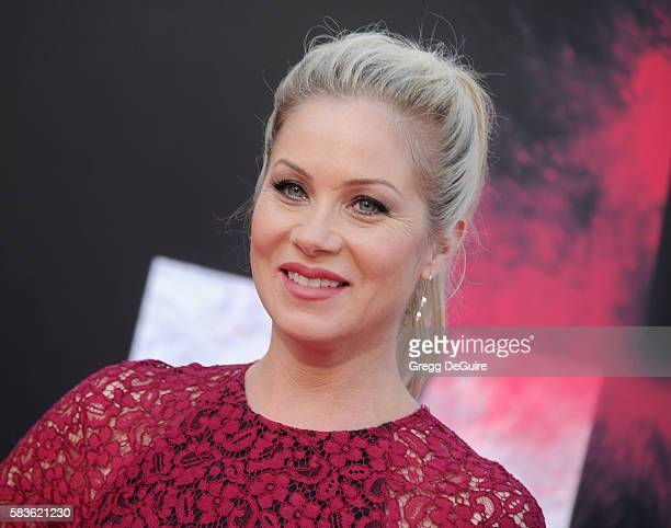 Actress Christina Applegate arrives at the premiere of STX Entertainment's Bad Moms at Mann Village Theatre on July 26 2016 in Westwood California