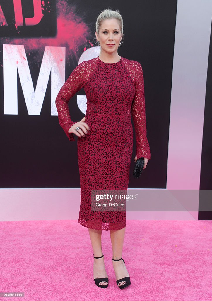 Actress Christina Applegate arrives at the premiere of STX Entertainment's 'Bad Moms' at Mann Village Theatre on July 26, 2016 in Westwood, California.