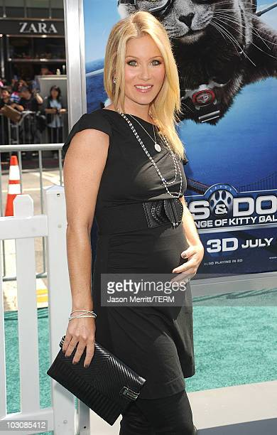 Actress Christina Applegate arrives at the premiere of Warner Bros Cats And Dogs 2 on July 25 2010 in Hollywood California