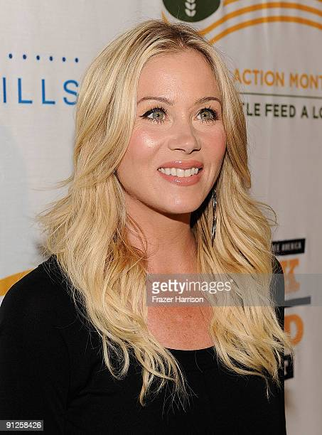 Actress Christina Applegate arrives at the Rock A Little Feed Alot benefit concert held at Club Nokia on September 29 2009 in Los Angeles California