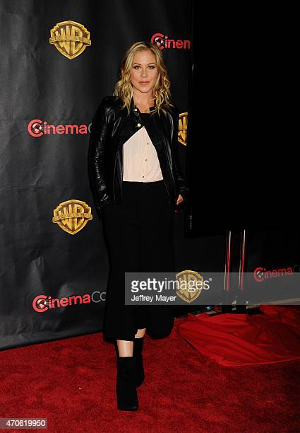 Actress Christina Applegate arrives at Warner Bros Pictures The Big Picture at The Colosseum at Caesars Palace during CinemaCon the official...