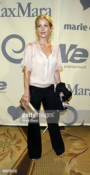 Actress Christina Applegate attends the 2004 Crystal and Lucy Awards A Family Affair Women In Film Celebrate the Paltrow Family on June 18 2004 at...