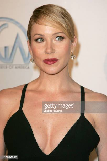 Actress Christina Applegate attends the 2008 Producers Guild Awards at the Beverly Hilton Hotel on February 2 2008 In Beverly Hills California