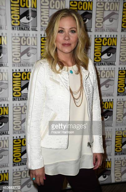 Actress Christina Applegate attends the 20th Century Fox press line during Comic-Con International 2014 at Hilton Bayfront on July 25, 2014 in San...
