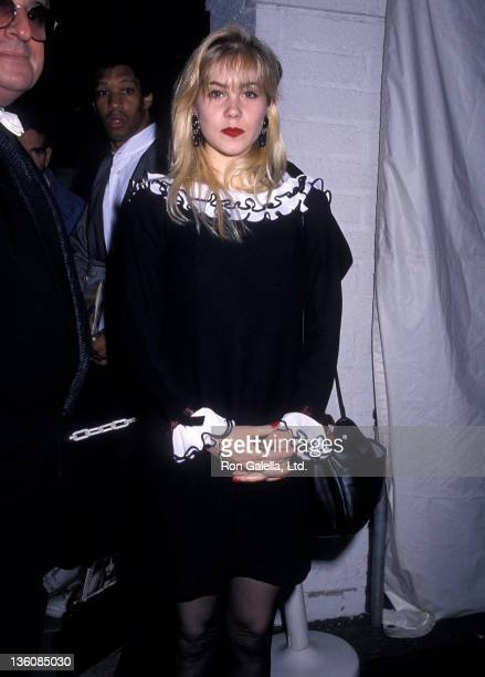 Actress Christina Applegate attends the 31st Annual Grammy Awards After Party on February 22 1989 at Chasen's Restaurant in Beverly Hills California