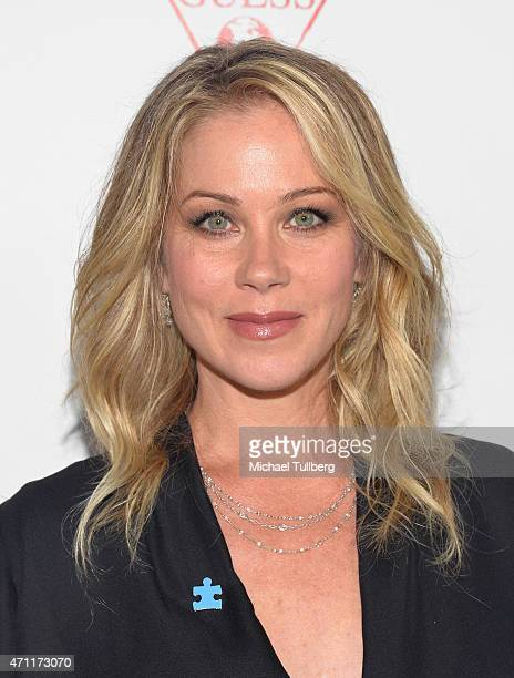 Actress Christina Applegate attends the 3rd Light Up The Blues Concert To Benefit Autism Speaks at the Pantages Theatre on April 25 2015 in Hollywood...