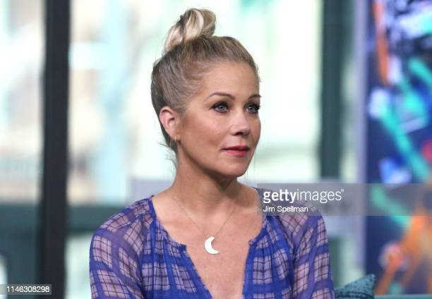Actress Christina Applegate attends the Build Series to discuss Dead to Meat Build Studio on May 01 2019 in New York City