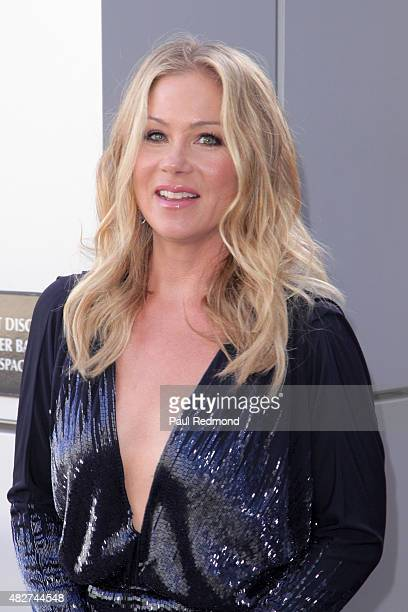 Actress Christina Applegate attends the Dizzy Feet Foundation's 5th Annual Celebration Of Dance Gala at Microsoft Theater on August 1 2015 in Los...