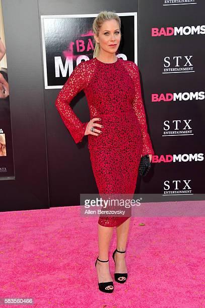 Actress Christina Applegate attends the Premiere ff STX Entertainment's Bad Moms at Mann Village Theatre on July 26 2016 in Westwood California