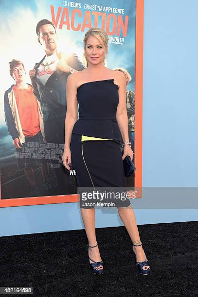 Actress Christina Applegate attends the premiere of Warner Bros Vacation at Regency Village Theatre on July 27 2015 in Westwood California