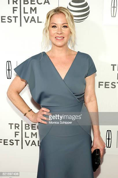 Actress Christina Applegate attends the Youth In Oregon Premiere 2016 Tribeca Film Festival at BMCC John Zuccotti Theater on April 16 2016 in New...