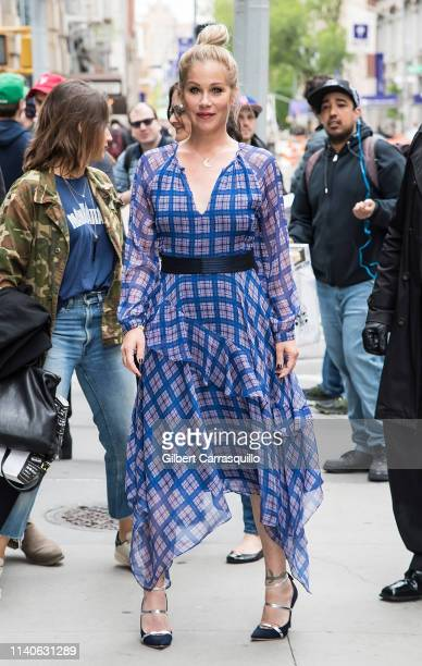 Actress Christina Applegate is seen arriving to AOL Build Series at Build Studio on May 01 2019 in New York City