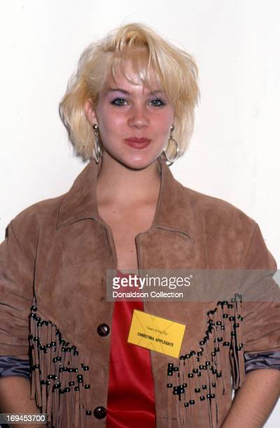 Actress Christina Applegate poses for a portrait at the premiere of the TV show Heart Of The City in 1986 in Los Angeles California