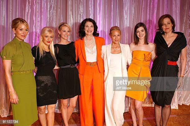Actress Christina Applegate singer Christina Aguilera actress January Jones former studio executive Sherry Lansing actresses Maria Bello Anne...