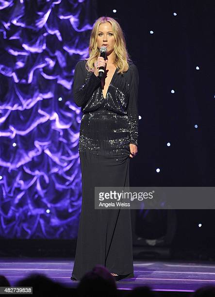 Actress Christina Applegate speaks onstage at the 5th Annual Celebration of Dance Gala presented By The Dizzy Feet Foundation at Club Nokia on August...