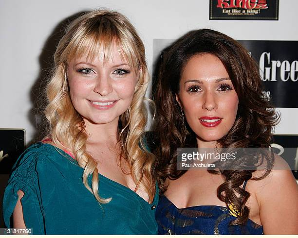 Actress Christina DeRosa and Actress Lindsey Haun arrive at the ShaBoom Cosmetics launch party to benefit One Mama Foundation on November 17, 2010 in...