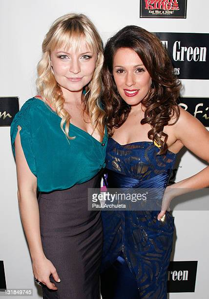 Actress Christina DeRosa and Actress Lindsey Haun arrive at the ShaBoom Cosmetics launch party to benefit One Mama Foundation on November 17 2010 in...