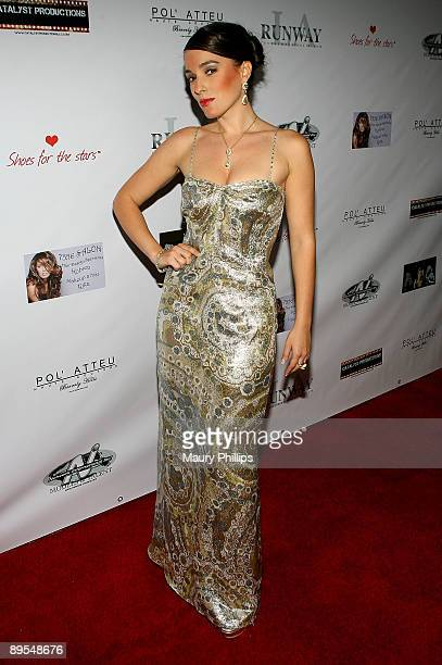 Actress Christina DeRosa arrives at her New Cabaret Show held at the Camden House on July 31, 2009 in Beverly Hills, California.
