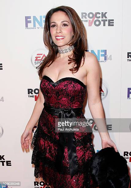 """Actress Christina DeRosa arrives at the 14th annual """"Friends 'N' Family"""" GRAMMY event at Paramount Studios on February 11, 2011 in Hollywood,..."""