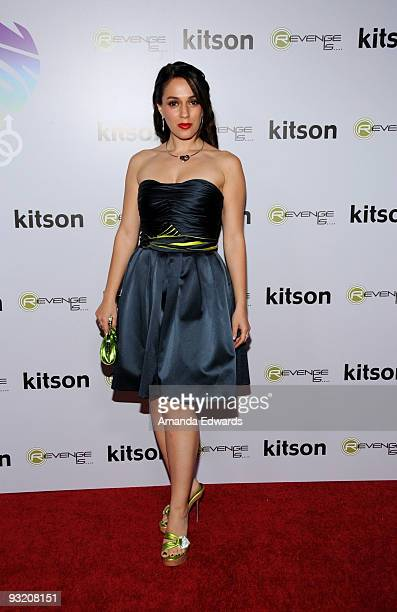 Actress Christina DeRosa arrives at the All Love Is Equal launch party at Kitson Melrose on November 18 2009 in West Hollywood California