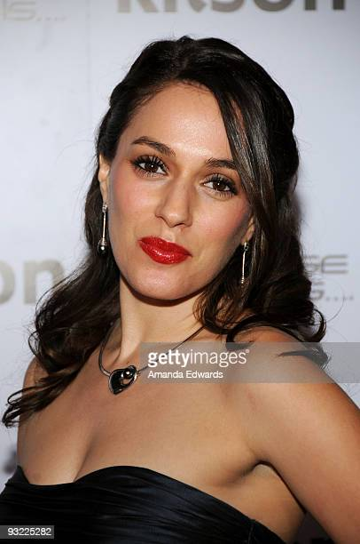 """Actress Christina DeRosa arrives at the """"All Love Is Equal"""" launch party at Kitson Melrose on November 18, 2009 in West Hollywood, California."""