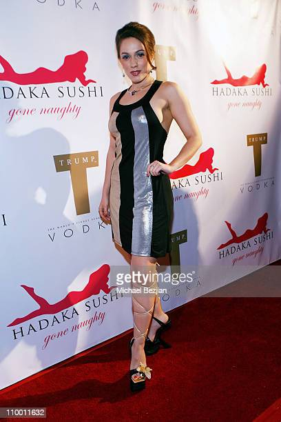 Actress Christina DeRosa arrives at the Grand Opening of Hadaka Sushi Restaurant on February 12, 2008 in West Hollywood, California.