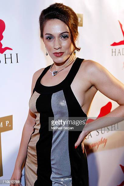 Actress Christina DeRosa arrives at the Grand Opening of Hadaka Sushi Restaurant on February 12 2008 in West Hollywood California