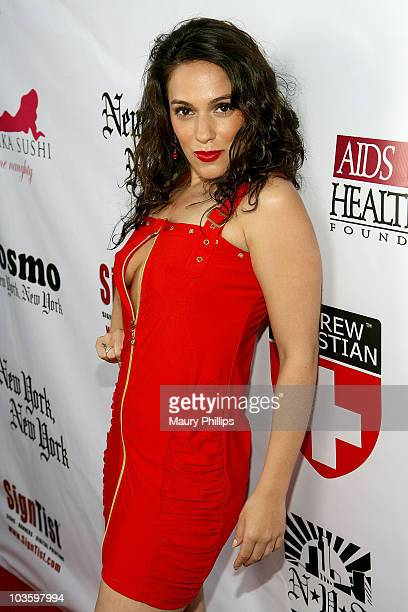 Actress Christina DeRosa arrives at the Grand Opening of Pupe at New York New York on June 1 2008 in Los Angeles California