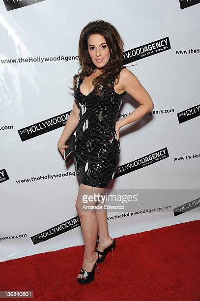 Actress Christina DeRosa arrives at the Hollywood Agency's private People's Choice Awards after-party at Club Nokia at L.A. Live on January 11, 2012...