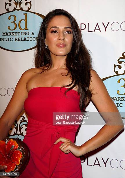 Actress Christina DeRosa arrives at the Play Couture Celebrates Red Carpet Grand Opening on September 4, 2008 in Beverly Hills, California.