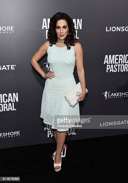 Actress Christina DeRosa arrives at the premiere of Lionsgate's American Pastoral on October 13 2016 in Beverly Hills California