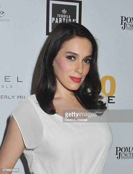 Actress Christina DeRosa attends Beverly Hills Lifestyle Magazine's 'Academy Awards Issue' Party With Tom Hanks at Sofitel Hotel on February 27, 2014...