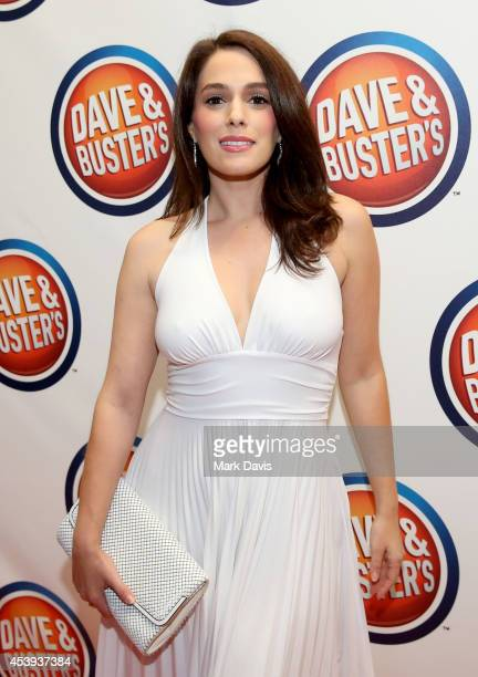 Actress Christina DeRosa attends Dave & Buster's Hollywood & Highland Grand Opening on August 21, 2014 in Hollywood, California.