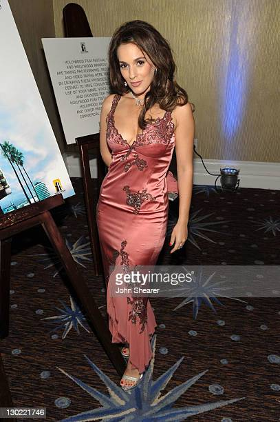 Actress Christina DeRosa attends the 15th Annual Hollywood Film Awards Gala Presented By Starz held at The Beverly Hilton Hotel on October 24 2011 in...