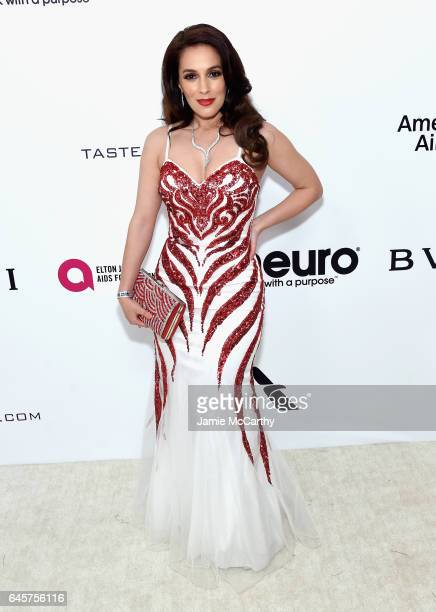 Actress Christina DeRosa attends the 25th Annual Elton John AIDS Foundation's Academy Awards Viewing Party at The City of West Hollywood Park on...