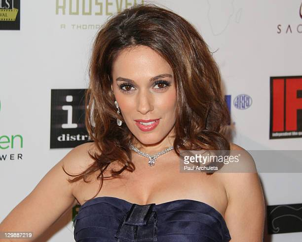 Actress Christina DeRosa attends the 2nd Annual Beverly Hills Film, TV & New Media Festival at Hollywood Roosevelt Hotel on October 20, 2011 in...
