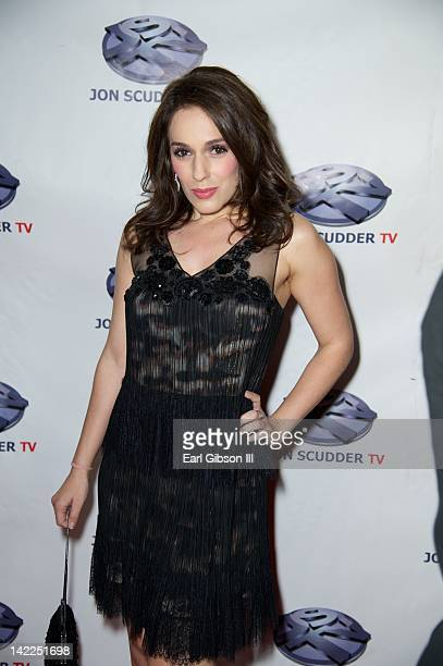 Actress Christina DeRosa attends the birthday celebration for Kuba Ka at Palace Film Stage Studio on March 31, 2012 in Van Nuys, California.